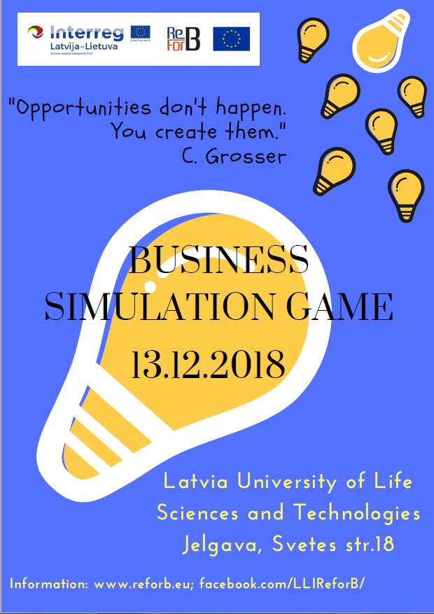 ReForB » BUSINESS SIMULATION GAME ON SERVICES IN JELGAVA